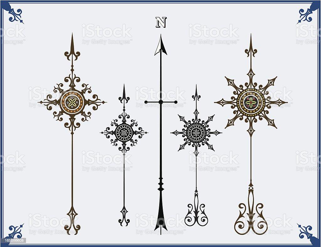 North Arrows vector art illustration