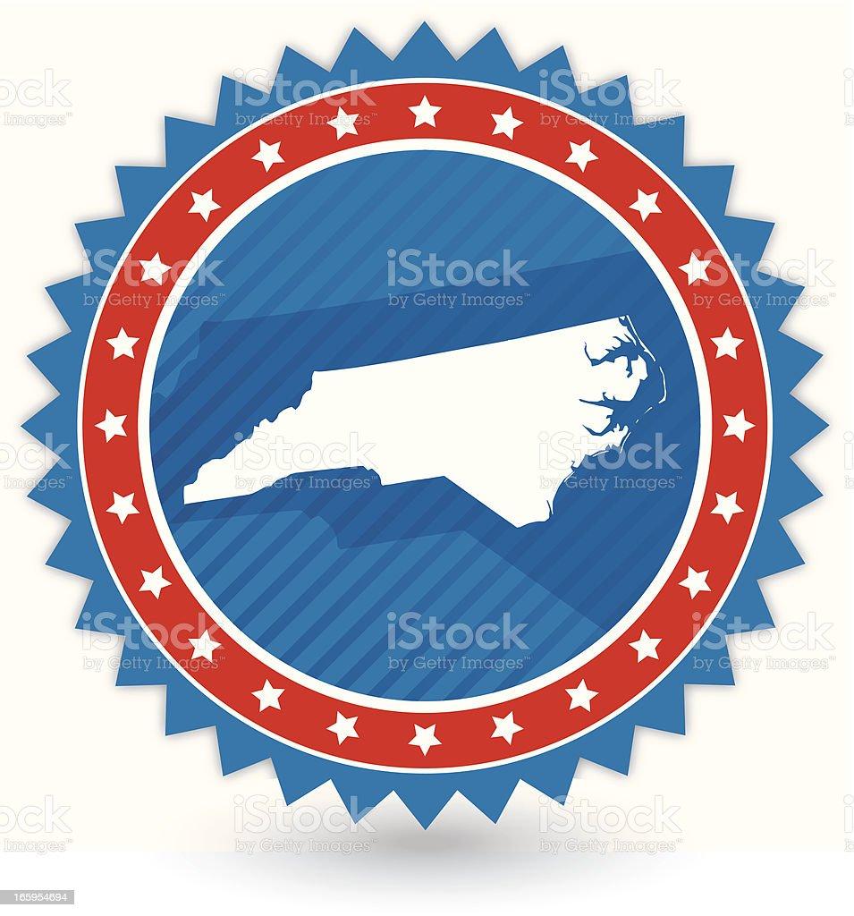 North Carolina Badge royalty-free stock vector art
