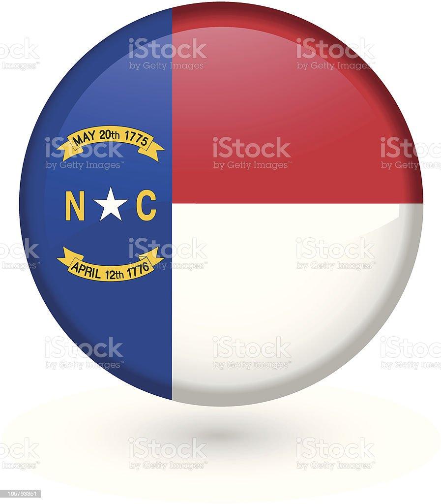 North Carolina flag button vector art illustration