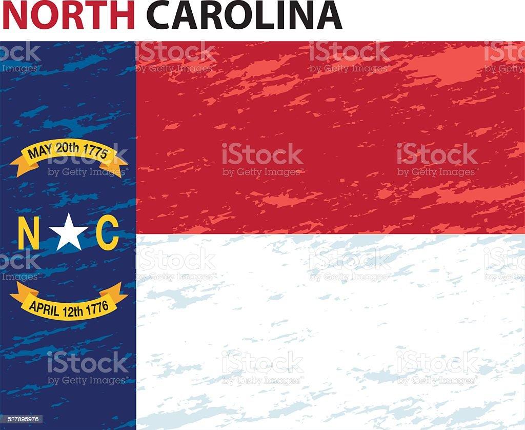 North Carolina Flag vector art illustration