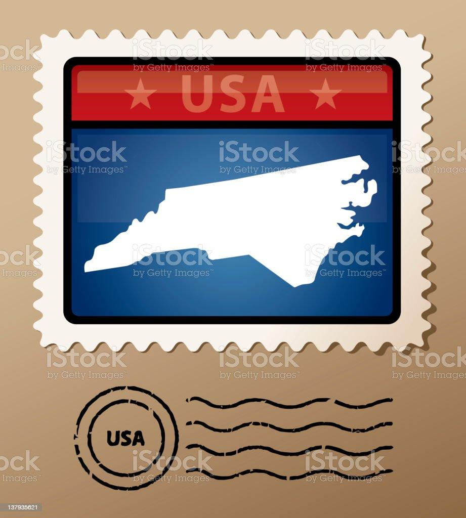 Usa North Carolina Postage Stamp Stock Vector Art  IStock - Free us map mail