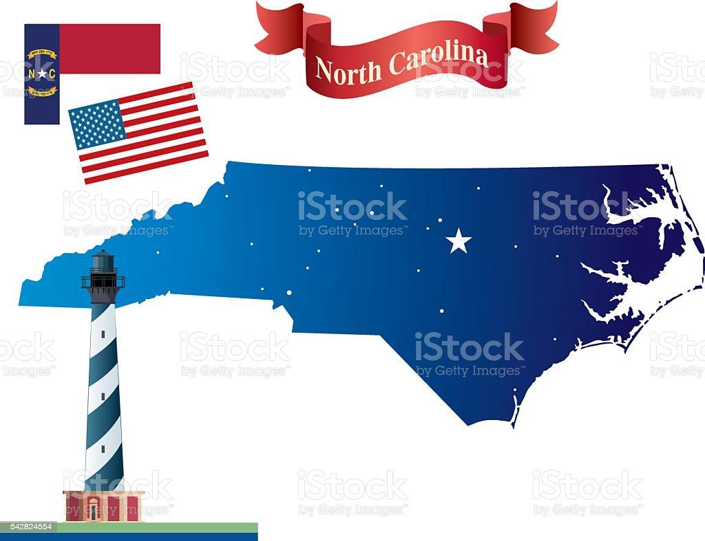 North Carolina vector art illustration