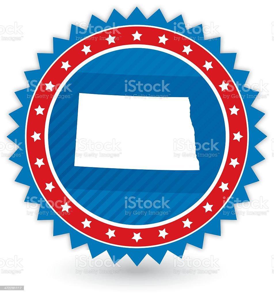 North Dakota Badge royalty-free stock vector art