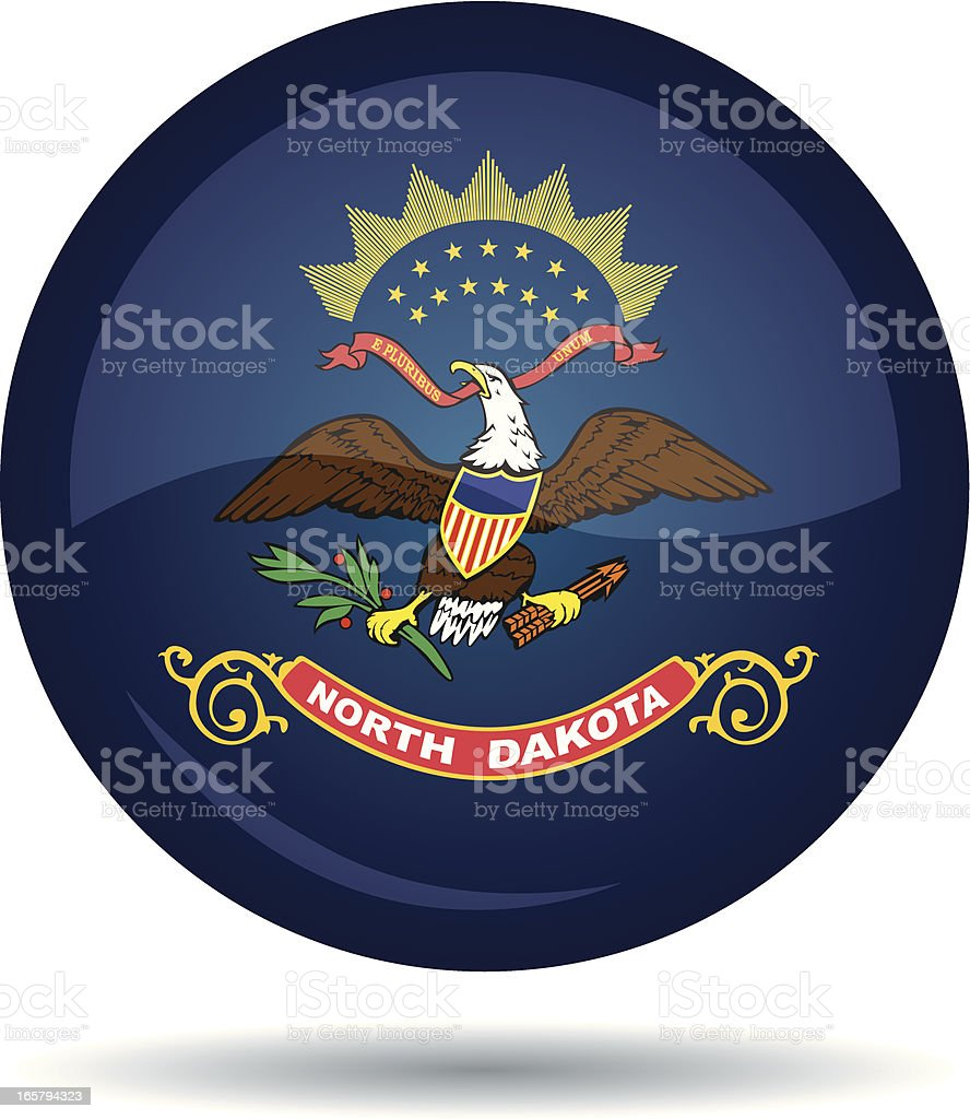 North Dakota flag royalty-free stock vector art