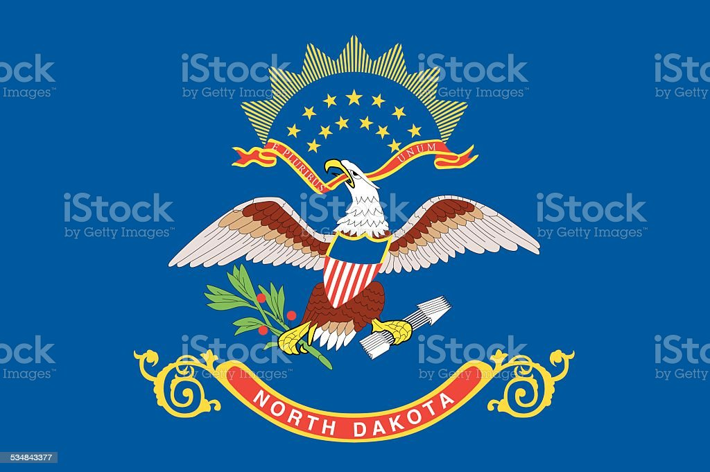 North Dakota State Flag vector art illustration