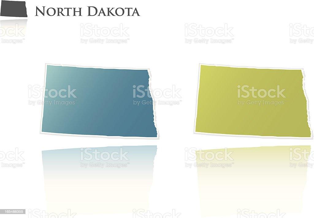 North Dakota state graphic royalty-free stock vector art