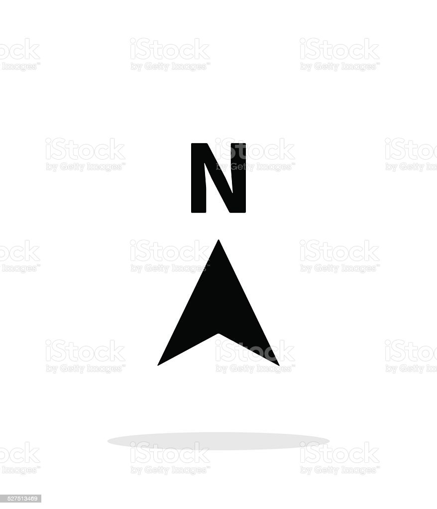 North direction compass icon on white background. vector art illustration