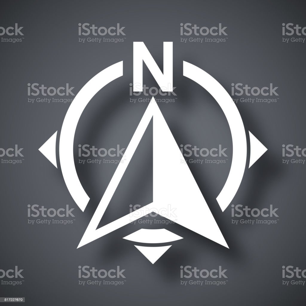 North direction compass icon, stock vector vector art illustration