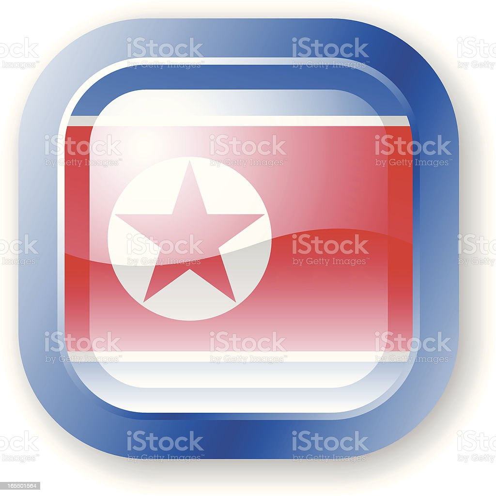 North Korea Flag Icon vector art illustration