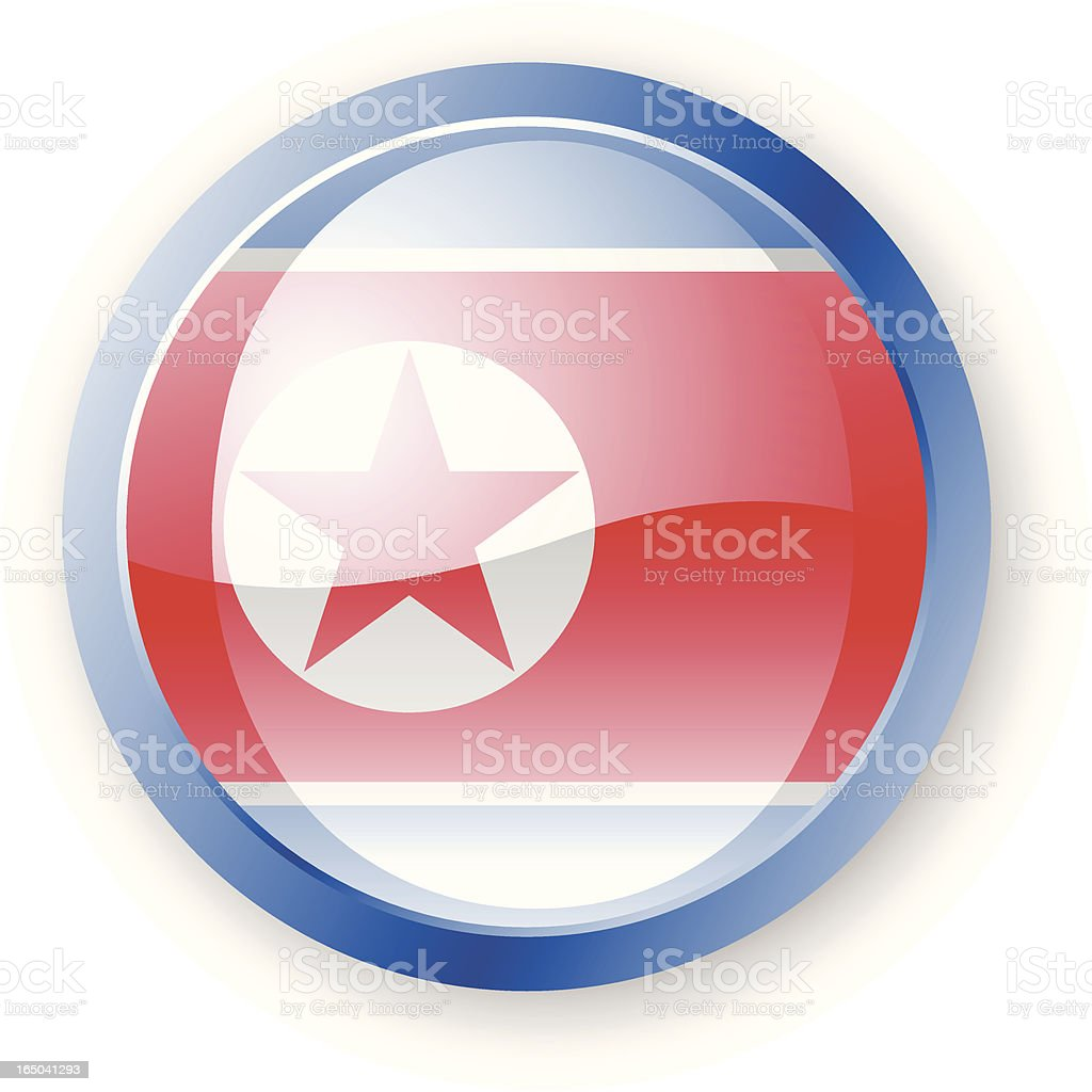 North Korean Flag Icon vector art illustration
