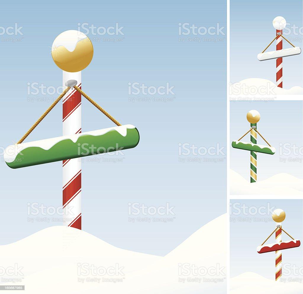 North Pole auf verschneiten-Set von vier Lizenzfreies vektor illustration