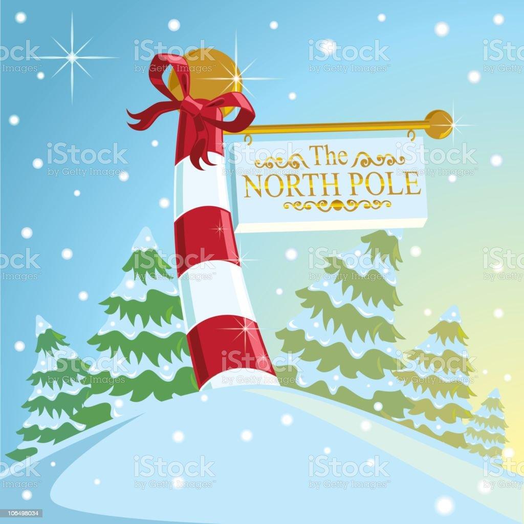 North Pole vector art illustration