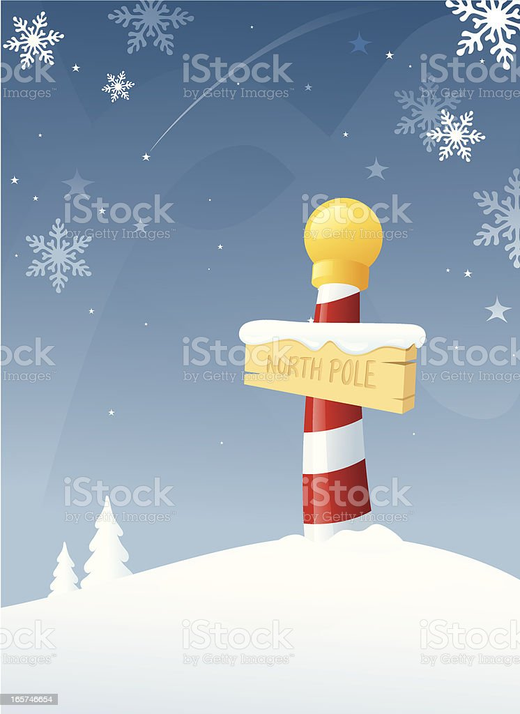 North Pole Winter royalty-free stock vector art