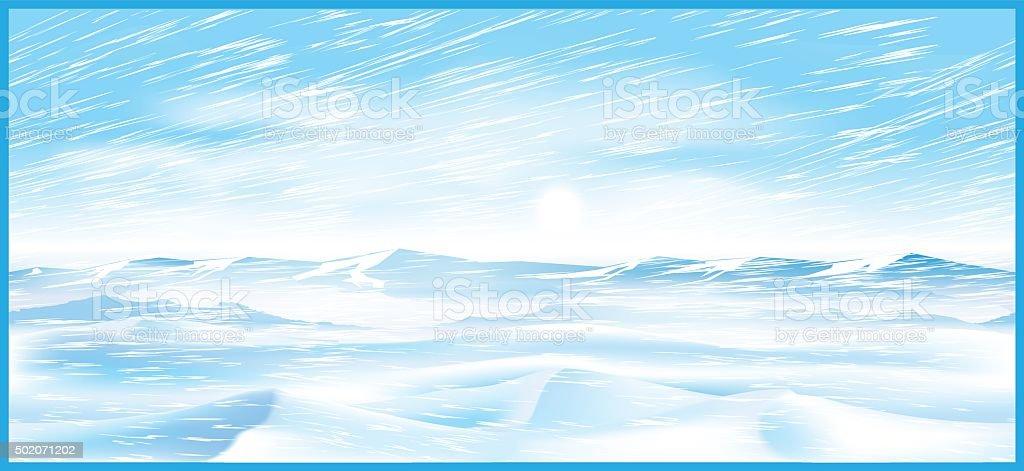 northern blizzard vector art illustration