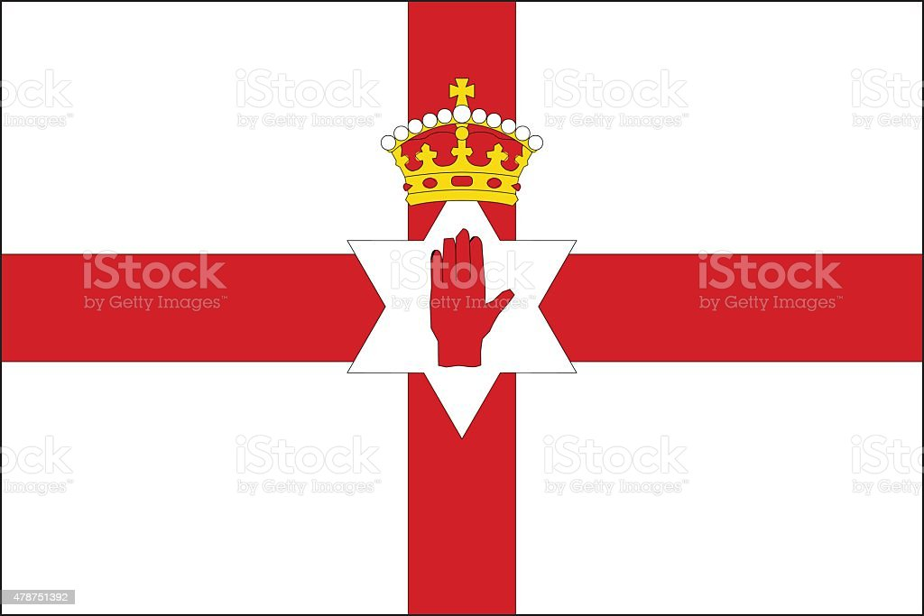 Northern ireland Flag vector art illustration