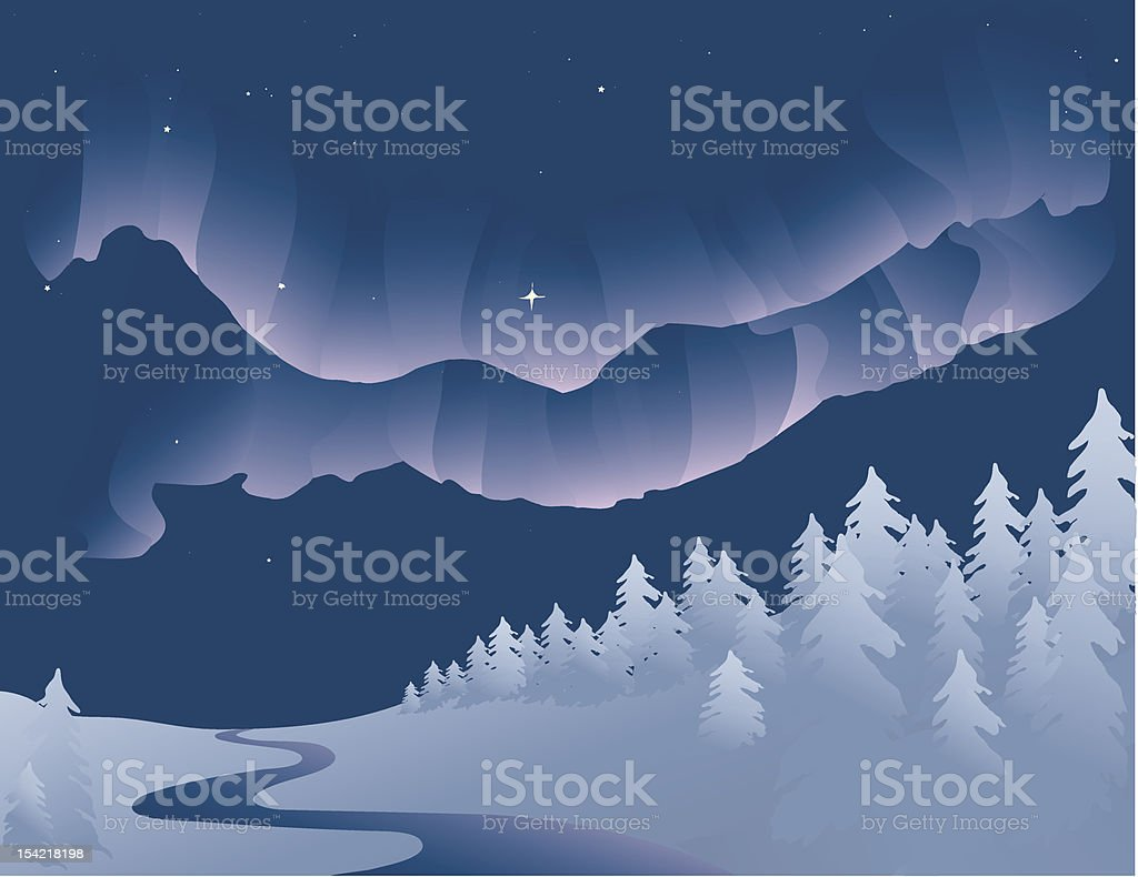 Northern Lights royalty-free stock vector art