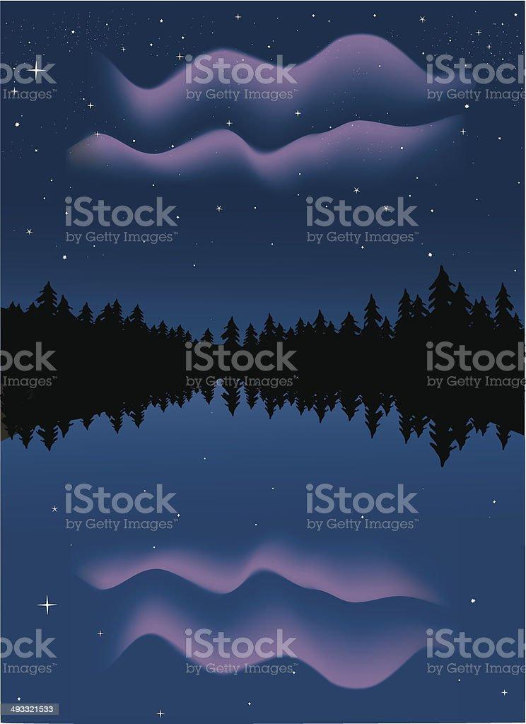Northern Lights royalty-free stock vector art