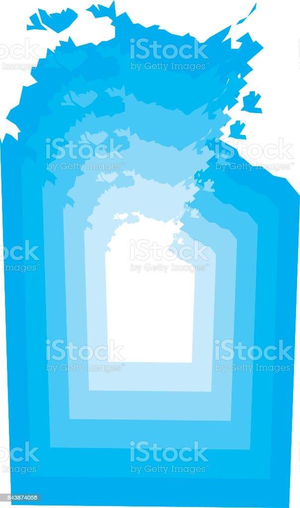 Northern Territory Zoom vector art illustration