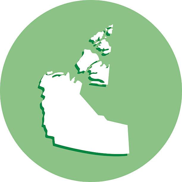 Northwest Territories Round Map Icon Clip Art, Vector Images