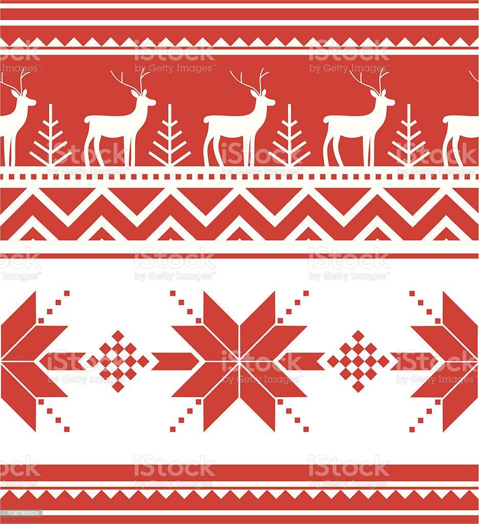 Norway christmas seamless royalty-free stock vector art