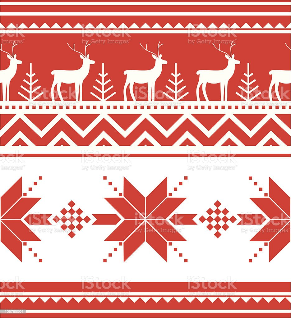 Norway christmas seamless vector art illustration