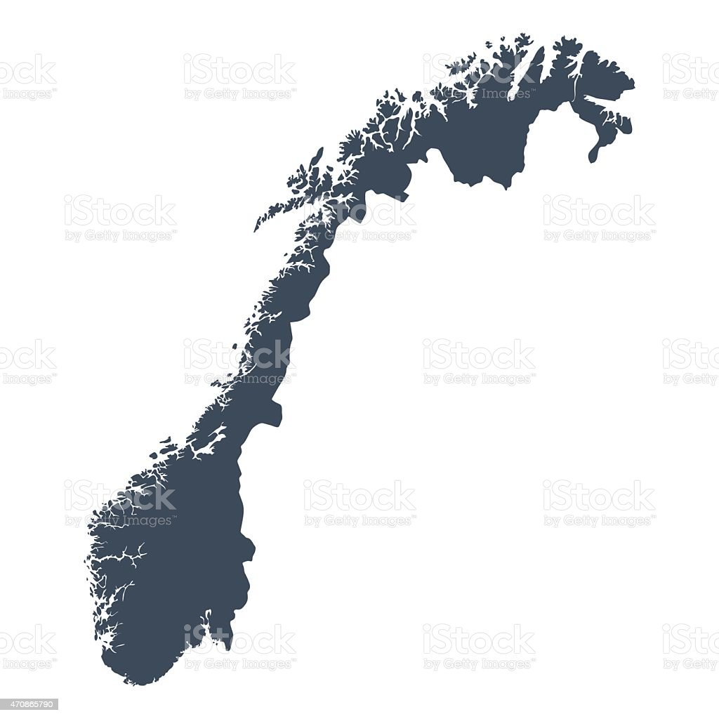 Norway country map vector art illustration