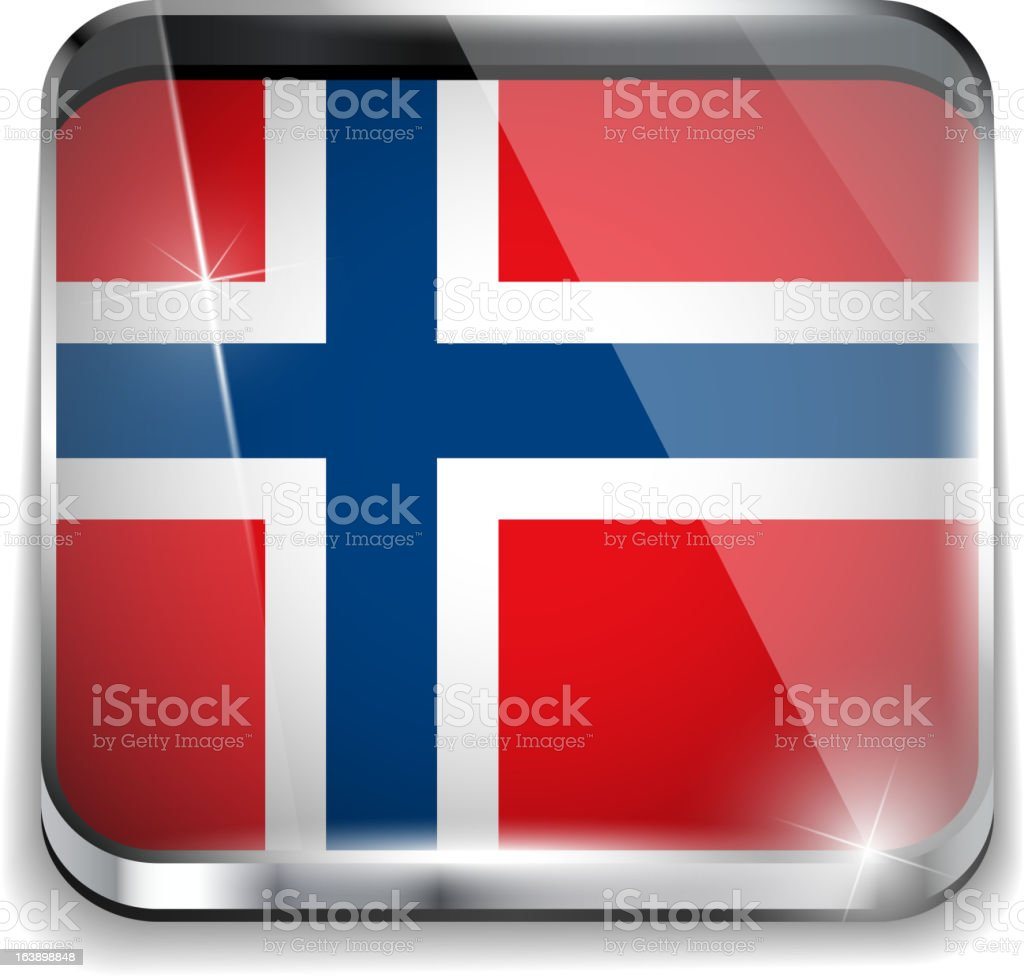 Norway Flag Smartphone Application Square Buttons vector art illustration