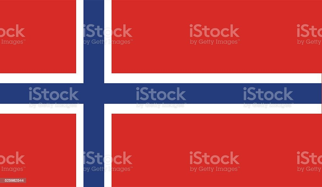 Norway Flag vector art illustration