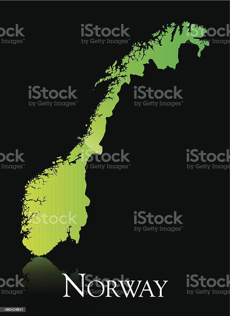 Norway green shiny map royalty-free stock vector art