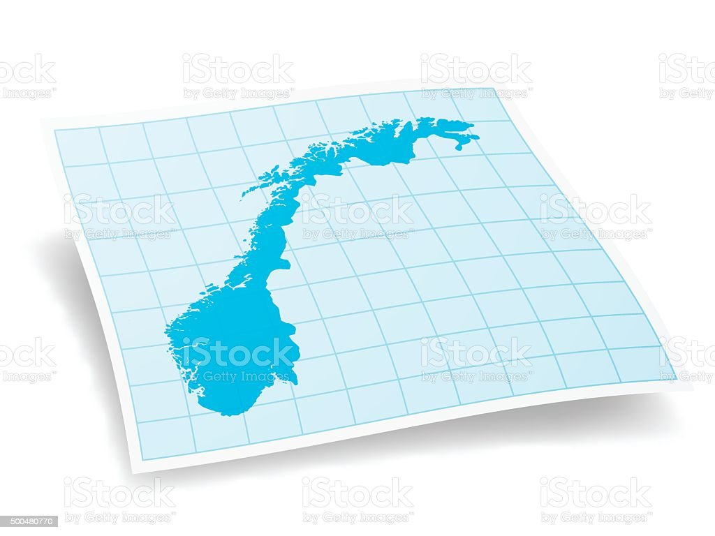 Norway map isolated on white background vector art illustration