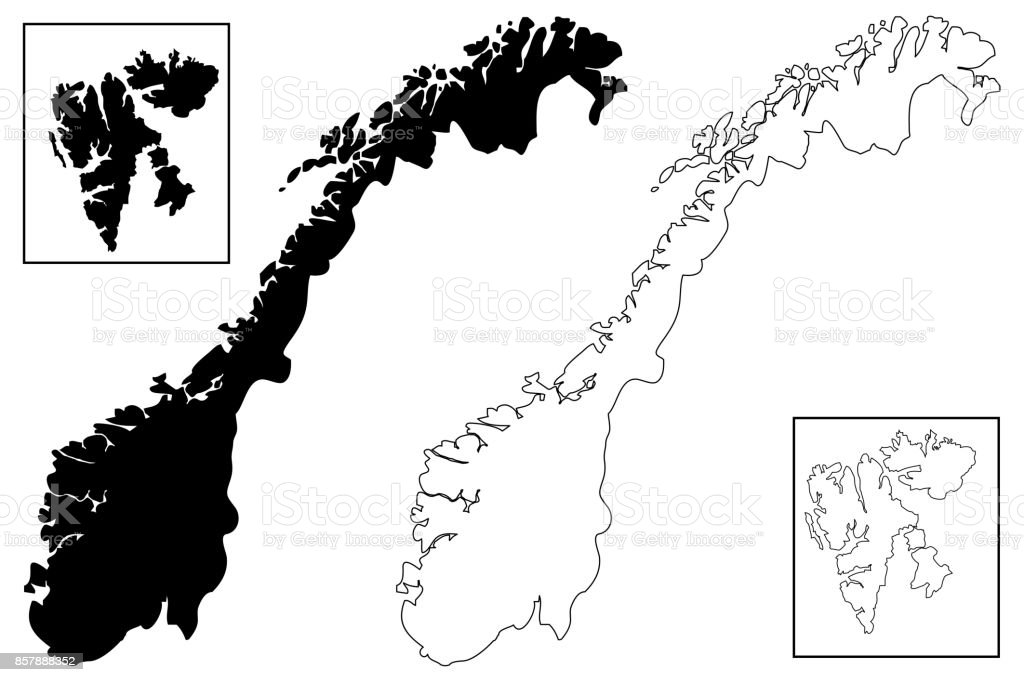 Norway Map Vector Stock Vector Art IStock - Norway map vector countries