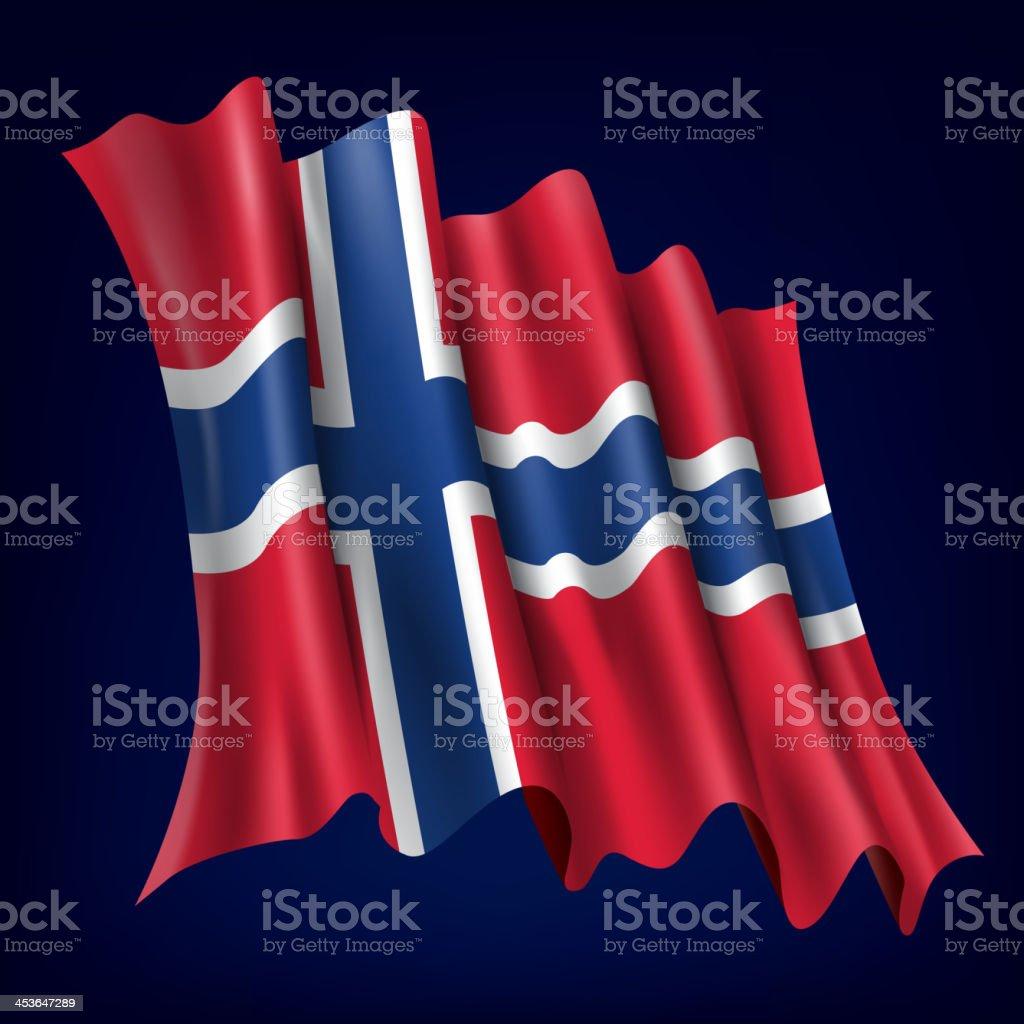 Norway, Norwegian Flag royalty-free stock vector art