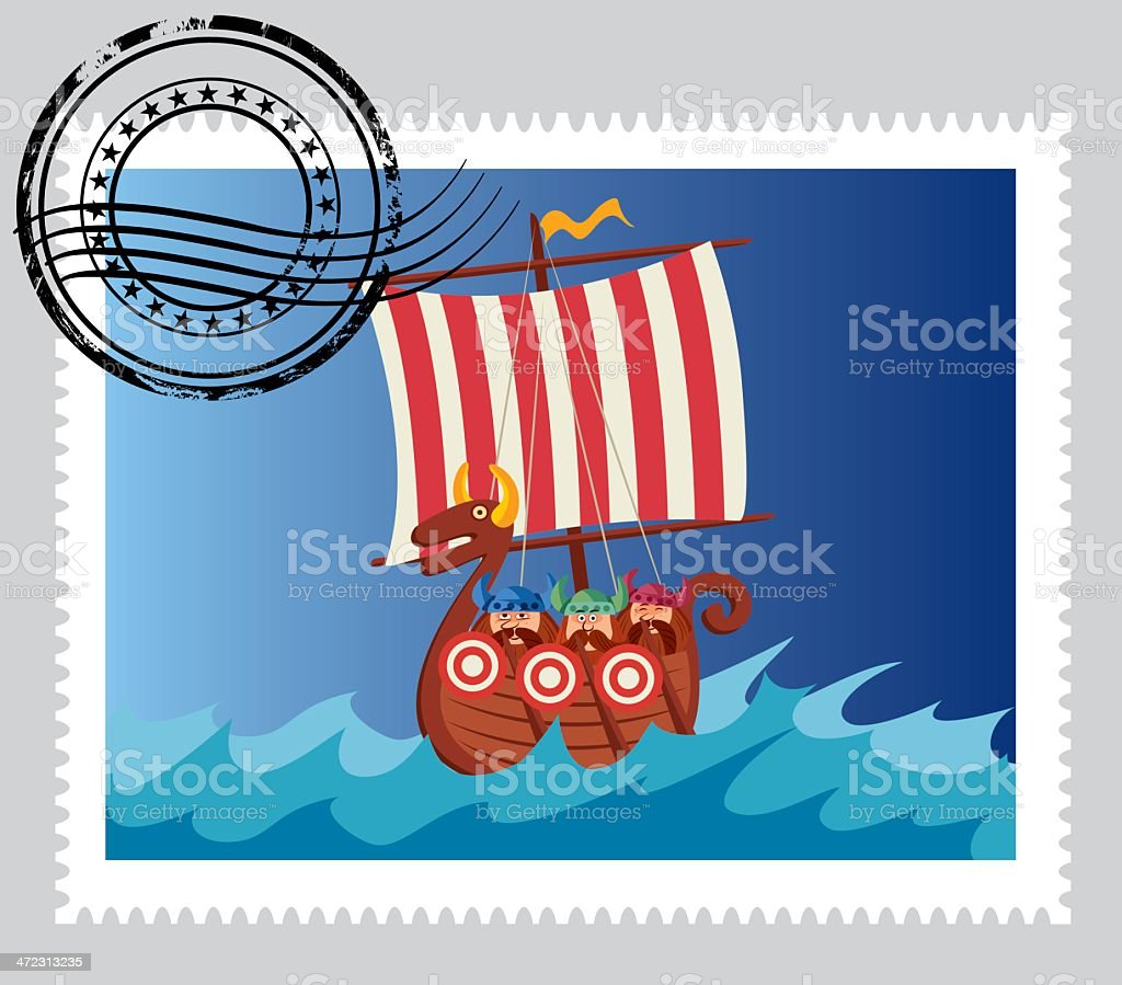 Norway Stamp vector art illustration
