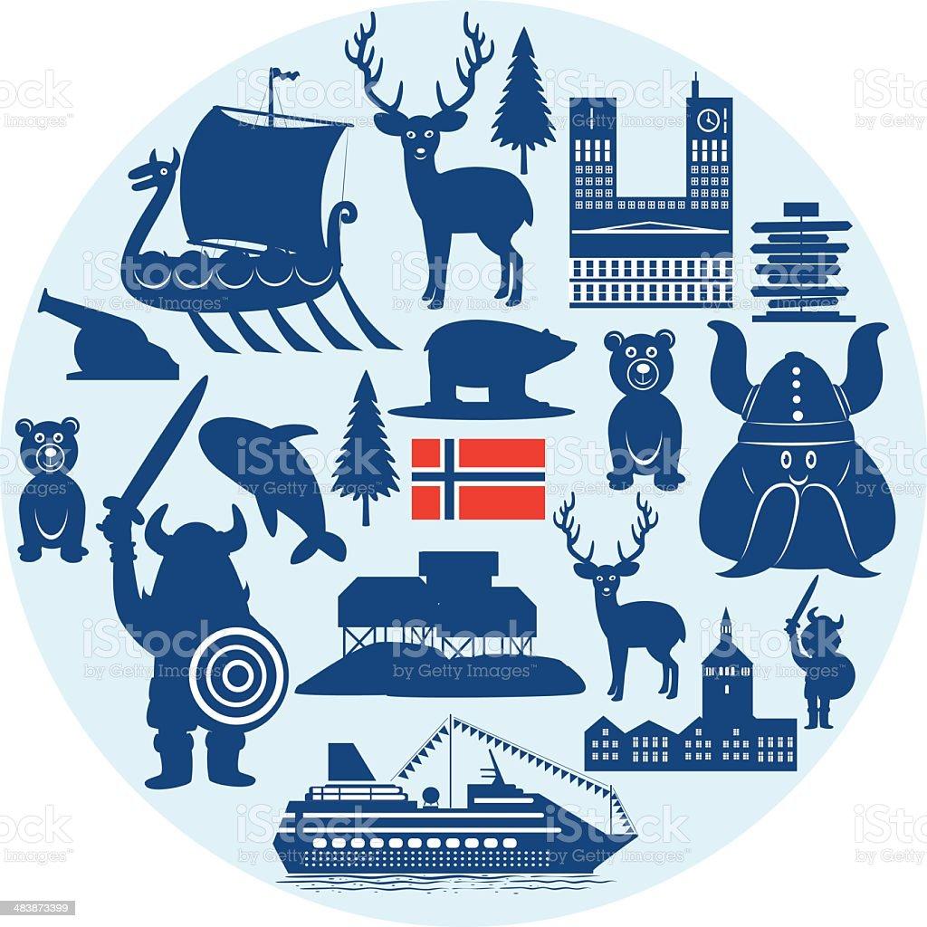 Norway Symbols royalty-free stock vector art