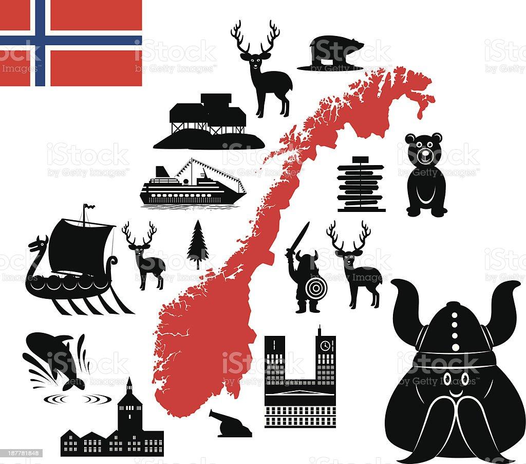 Norway vector art illustration