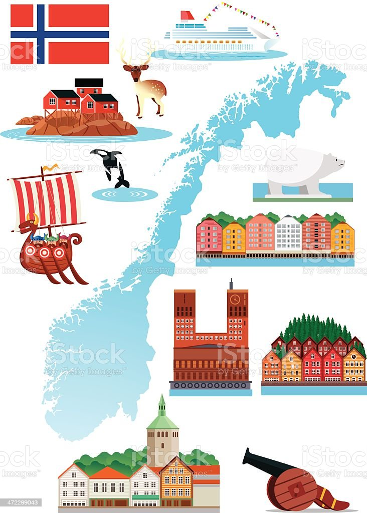 Norway royalty-free stock vector art
