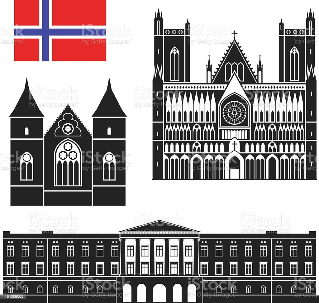 Norway vector art illustration
