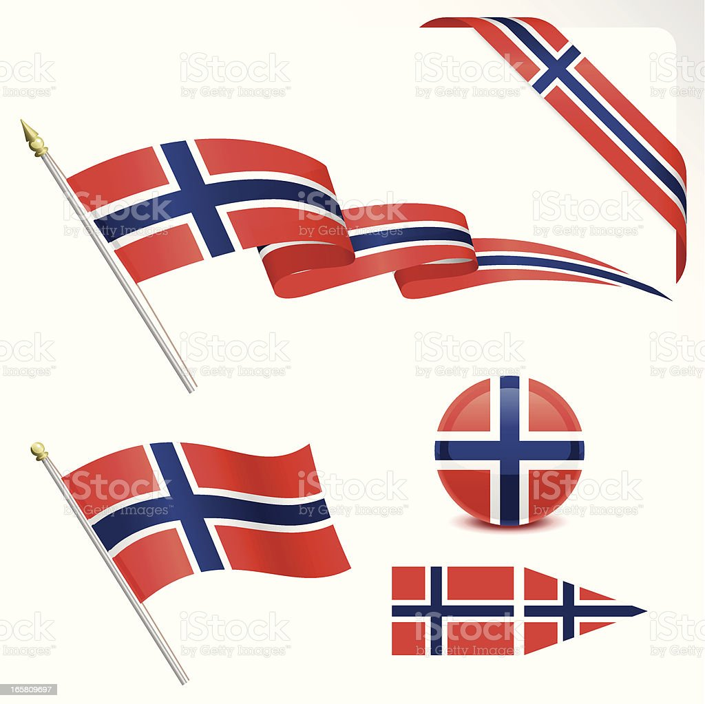 Norwegian Flag royalty-free stock vector art