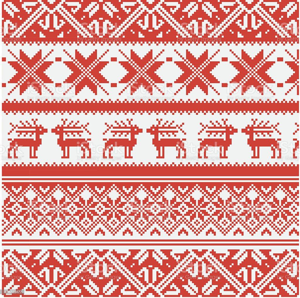 Norwegian pattern, vector Eps 8 illustration royalty-free stock vector art