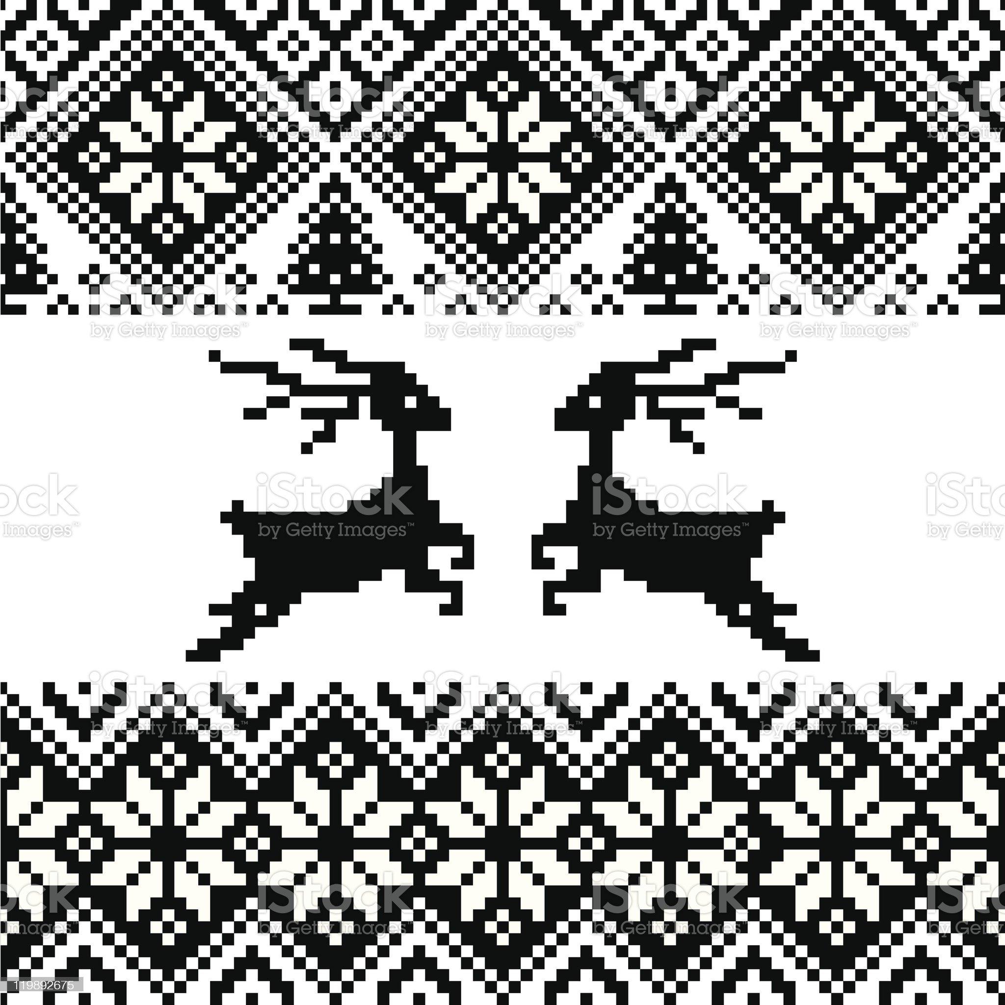 Norwegian pattern royalty-free stock vector art