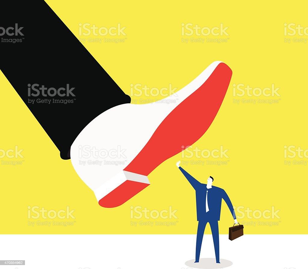Not afraid of power vector art illustration