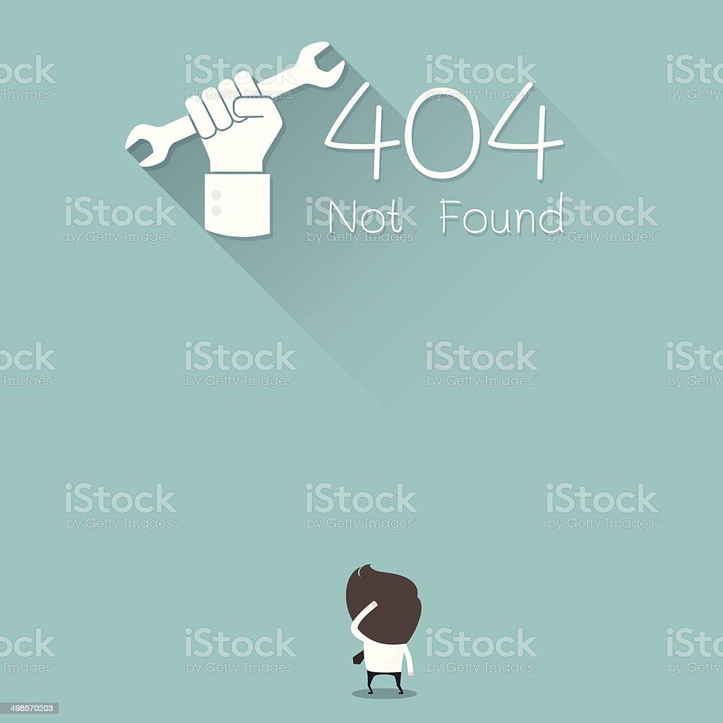 404 not found vector art illustration