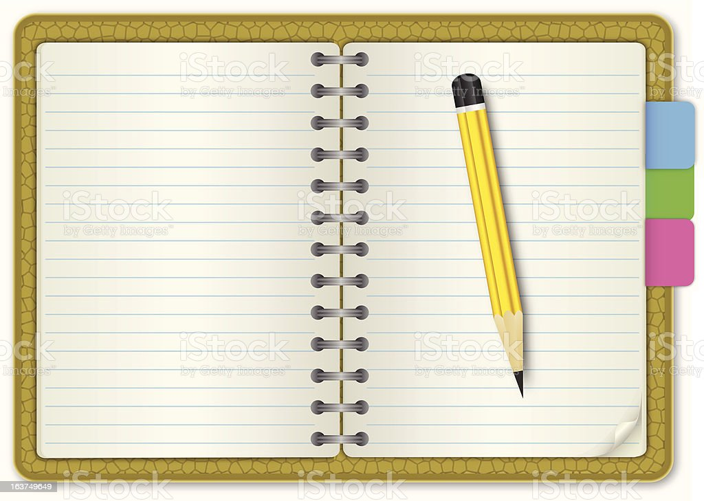 Note Book Skin Textured royalty-free stock vector art