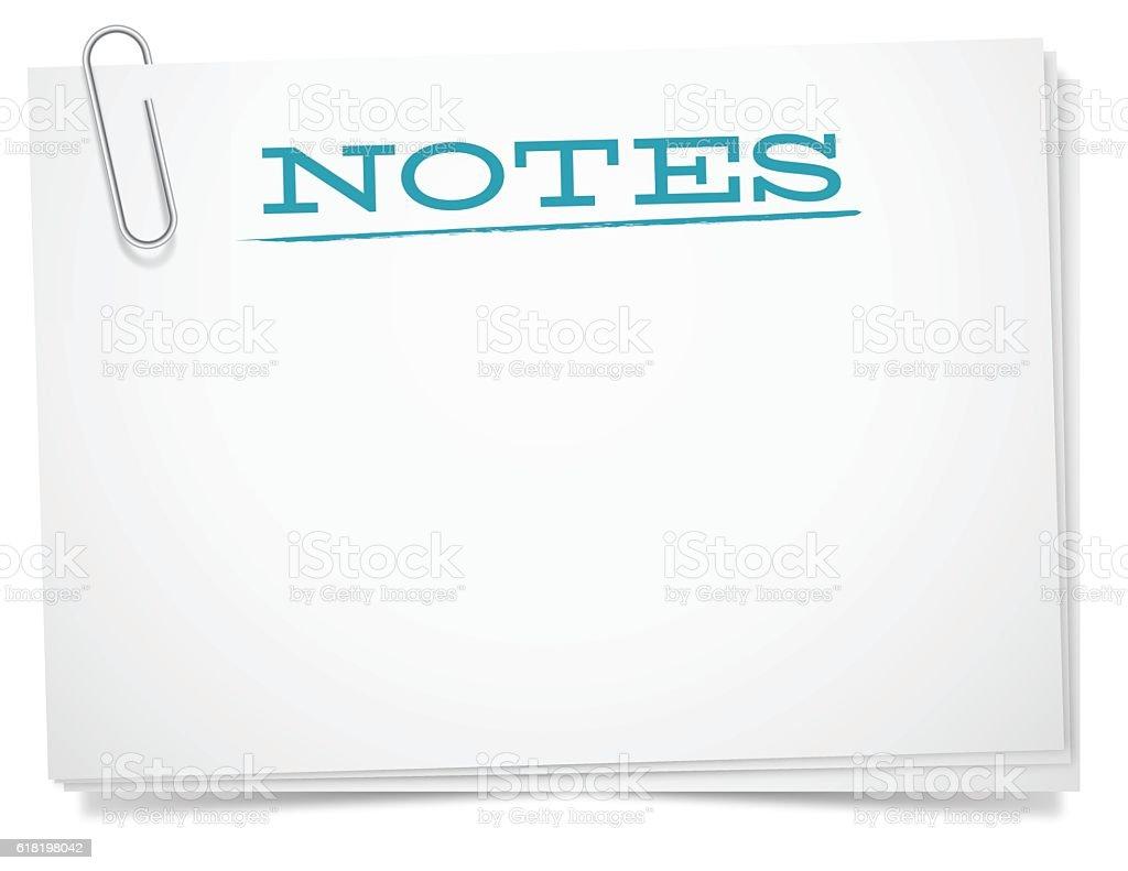 Note Cards vector art illustration