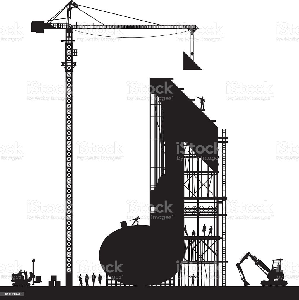 Note Construction royalty-free stock vector art