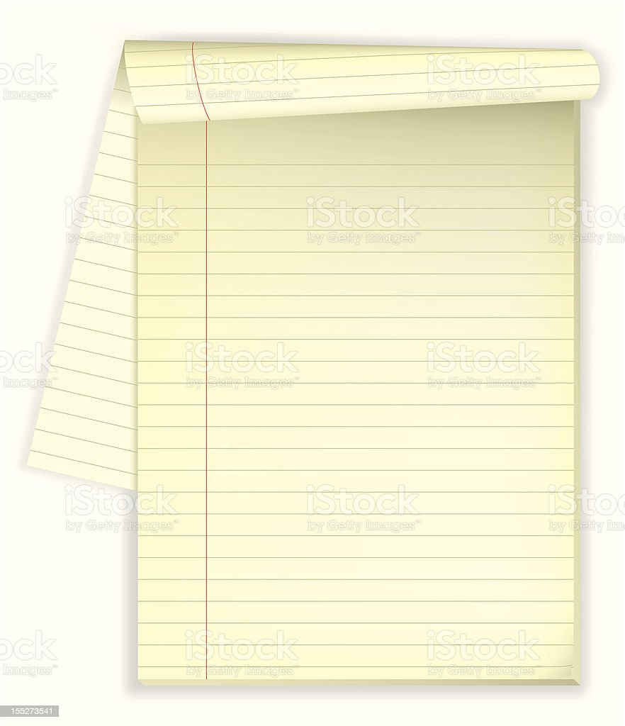 Note pad royalty-free stock vector art