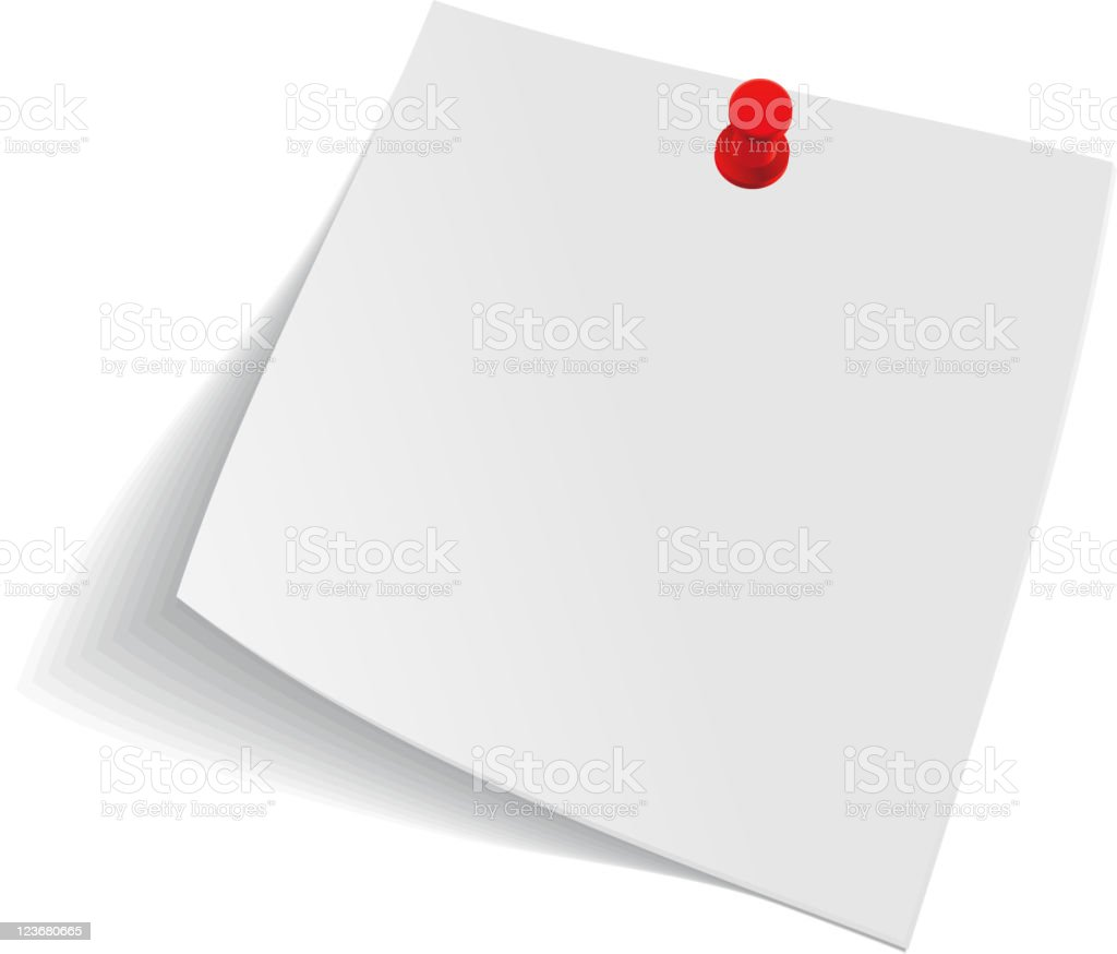 Note paper royalty-free stock vector art