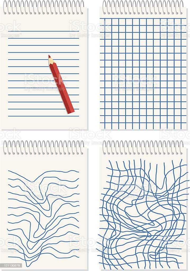 note paper with pencil royalty-free stock vector art