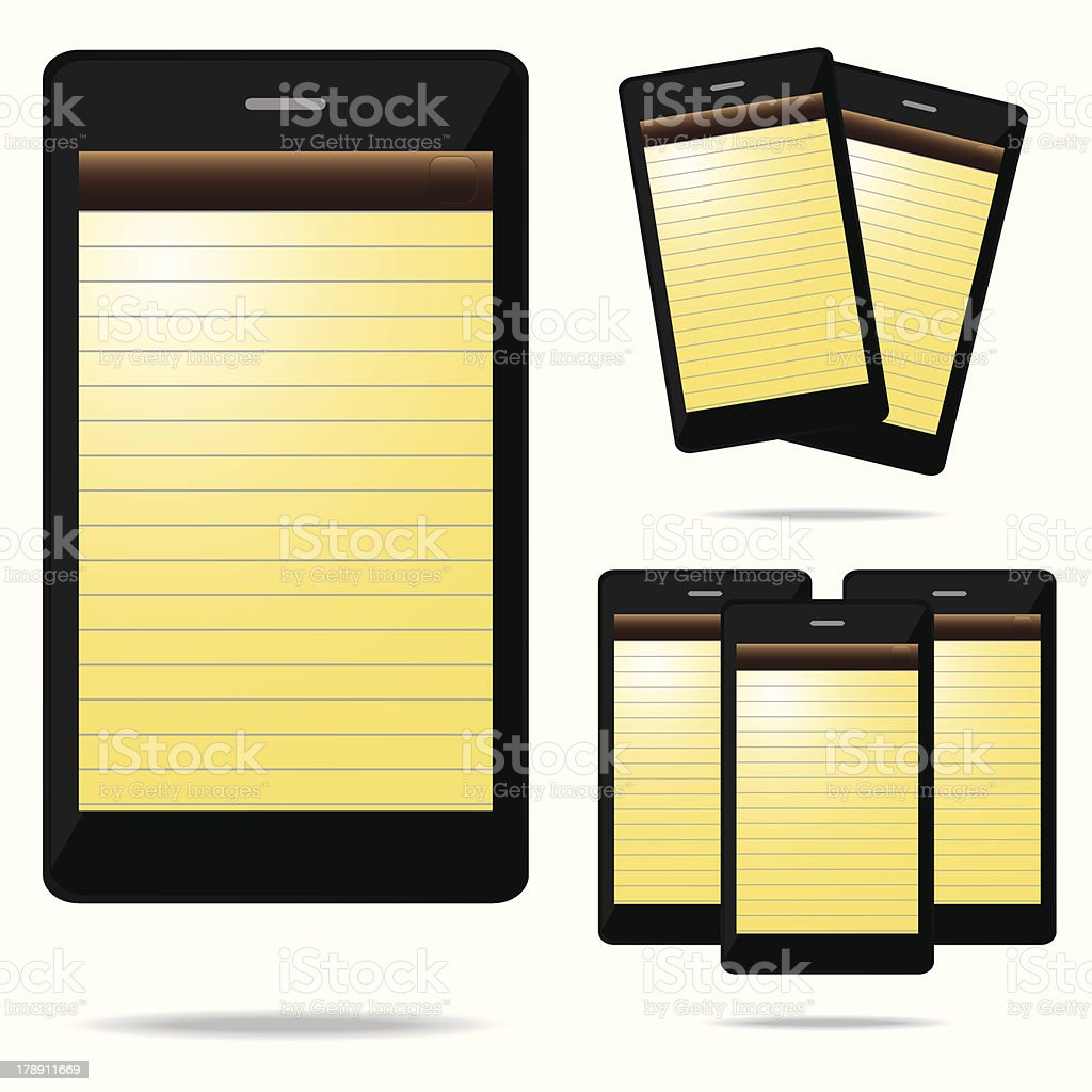 note phone royalty-free stock vector art