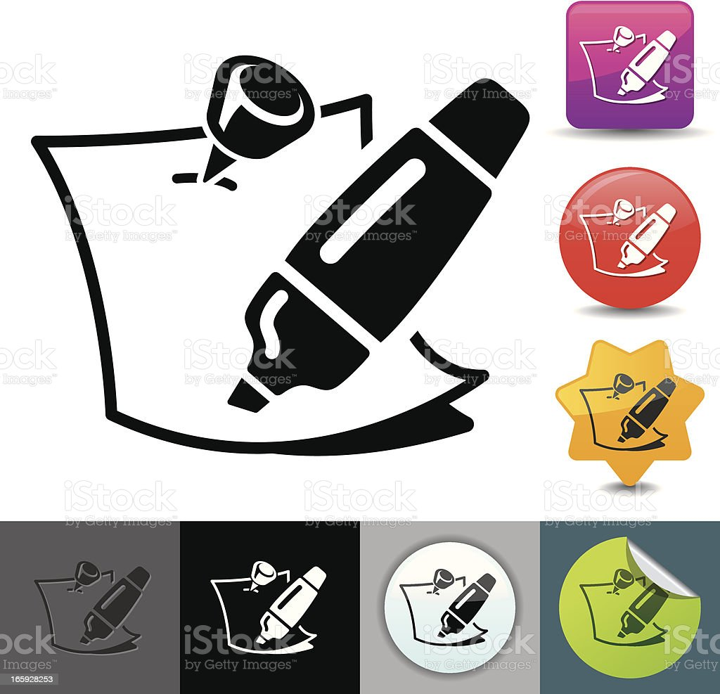Note writing icon | solicosi series royalty-free stock vector art